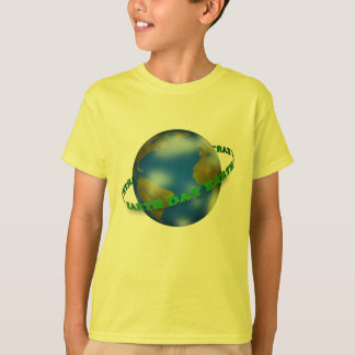 Erdtageskugel scherzt gelben T - Shirt