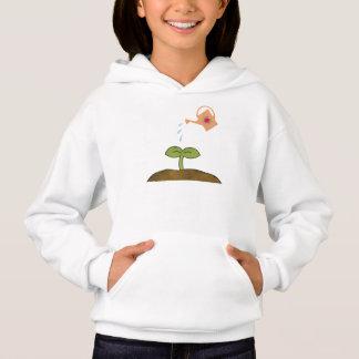ErdtagesPflanzenbäume stellen einen Hoodie