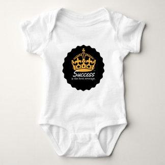 Erfolg ist das beste Rache-Motto Baby Strampler