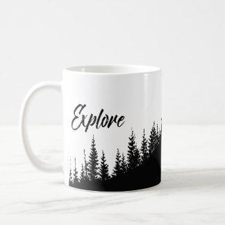Erforschen Sie den hübschen Wald Kaffeetasse
