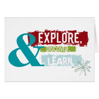 """""""erforschen Sie entdecken lernen"""" Grußkarte"""