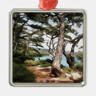 Erforschen Sie Traum entdecken Silbernes Ornament