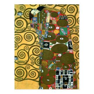 Erfüllung alias die Umarmung durch Gustav Klimt Postkarte