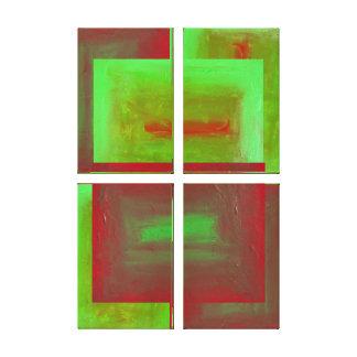 Ergänzende Platte des Fugue-vier abstrakt Leinwanddruck
