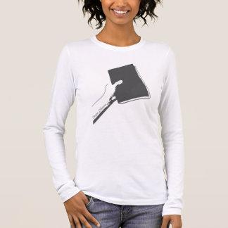 Ergreifen Sie das Buch (Holzkohle) Langarm T-Shirt