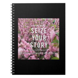 Ergreifen Sie Ihr Geschichten-Notizbuch Spiral Notizblock