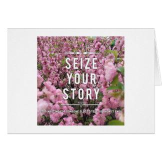Ergreifen Sie Ihre Geschichten-Anmerkungs-Karte - Mitteilungskarte
