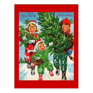 Erhalten der Weihnachtsbaum-Postkarte Postkarte