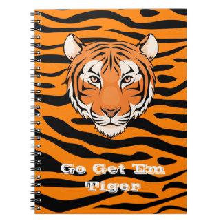 Erhalten gehen ihnen Tiger-Notizbuch - niemand Spiral Notizblock