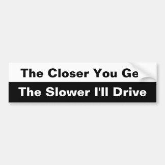 Erhalten Sie Autoaufkleber das naher