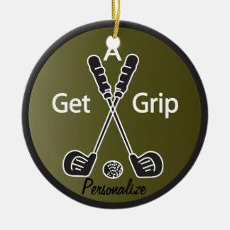 Erhalten Sie ein Griff-Golf Keramik Ornament