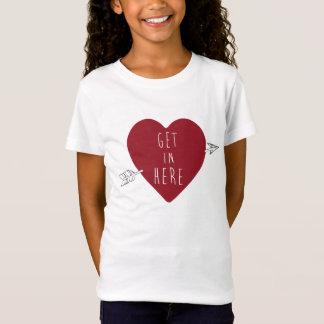 Erhalten Sie hier im Herzen T-Shirt