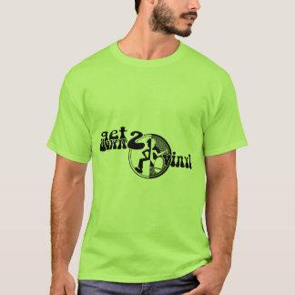 Erhalten Sie hinunter 2 Vinylflippiges T-Shirt
