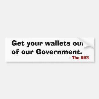 Erhalten Sie Ihre Geldbörsen aus unserem Regierung Autoaufkleber