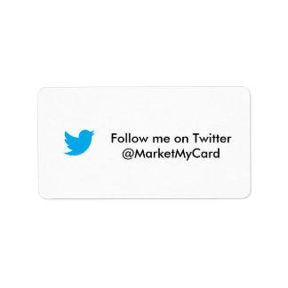 Erhalten Sie mehr Nachfolger auf Twitter Adressaufkleber