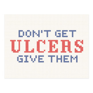 Erhalten Sie nicht Geschwüre Postkarte