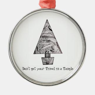 Erhalten Sie nicht Ihr Lametta in einer Silbernes Ornament