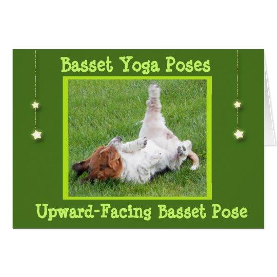 Erhalten Sie wohle Dachshund-Jagdhund-Yoga-Posen Grußkarte