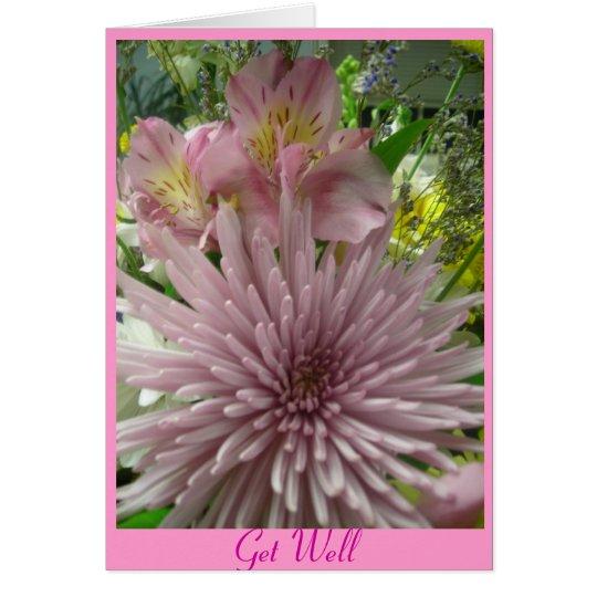 Erhalten Sie wohles Rosa *customize Grußkarte