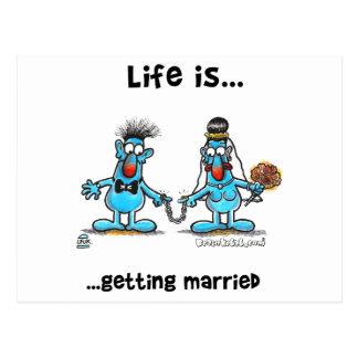 Erhalten verheiratet postkarte