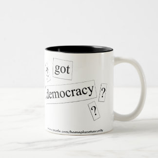 erhaltene Demokratie? Zweifarbige Tasse