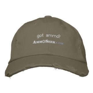 Erhaltene Munition? AmmoSeek Logo-Hut Bestickte Kappe