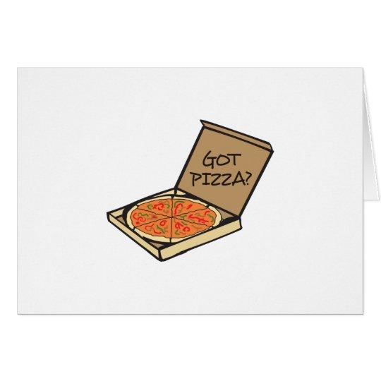ERHALTENE PIZZA KARTE