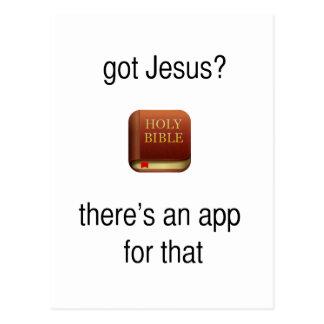 Erhaltener Jesus (gotische Schriften) Postkarten