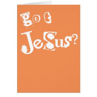 Erhaltener Jesus Karte