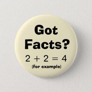Erhaltener Tatsachen-Problem-Beispiel-Knopf Runder Button 5,7 Cm
