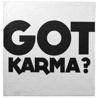 Erhaltenes Karma, Textwörter Serviette