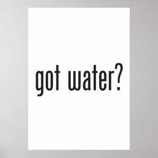 erhaltenes Wasser Poster