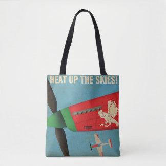 Erhitzen Sie oben die Tasche