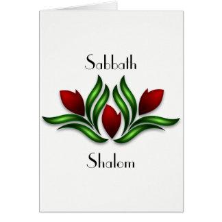 Erholung und freuen sich Sabbat-Karte Karte