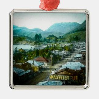 Erholungsort-Dorf von Hakon See Ashi in altem Silbernes Ornament