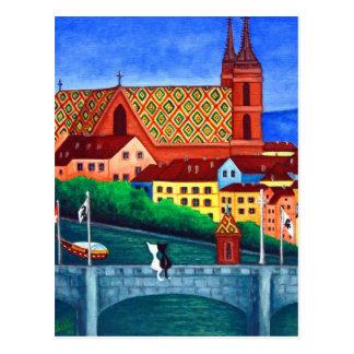 Erinnern an Basel, die Schweiz-Ansicht-Postkarte Postkarte