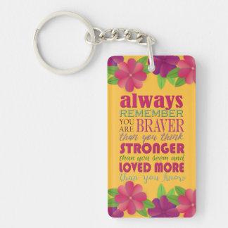 Erinnern Sie immer, dass sich Sie - Keychain sind Schlüsselanhänger