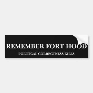Erinnern Sie sich an Fort Hood - politische Autoaufkleber