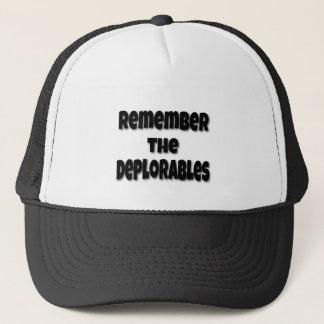 Erinnern Sie sich das an Deplorables Truckerkappe