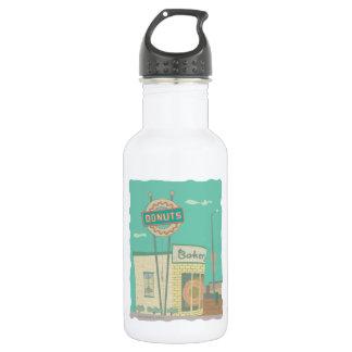 Erinnerungen Krapfenc$geschäft-von Route 66 Trinkflasche