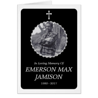 Erinnerungskarte: elegantes Kreuz Karte