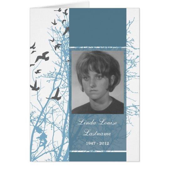 Erinnerungskarte: silhouscreen Vögel Mitteilungskarte
