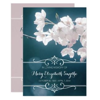 Erinnerungsservice-Kirschblüten-Kirschblüte-Blumen 12,7 X 17,8 Cm Einladungskarte