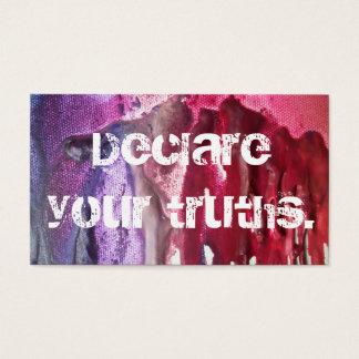 """""""Erklären Sie Ihre Wahrheiten"""" WarmNFuzzies Karte"""