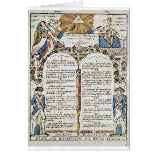 Erklärung der Rechte des Mannes und des Citize Karte