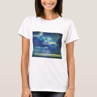 Erlöschen Sie und malen Sie das Stern-Vincent van T-Shirt