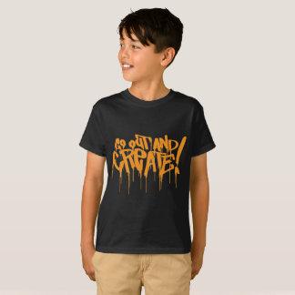 erlöschen Sie und schaffen Sie orange T-Shirt