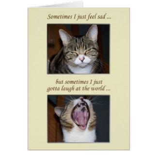 Ermutigung für eine Krankheit, niedliche Katze Grußkarte