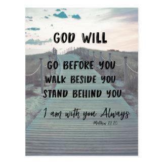 Ermutigungs-und Komfort-Bibel-Vers mit Zitat Postkarte