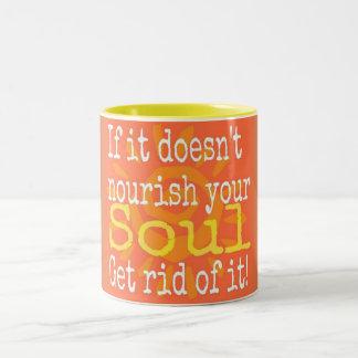 Ernähren Sie Ihr Soul Zweifarbige Tasse